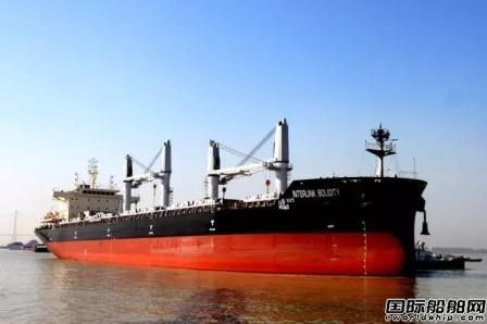 口岸船舶一艘3.8万吨散货船试航凯旋