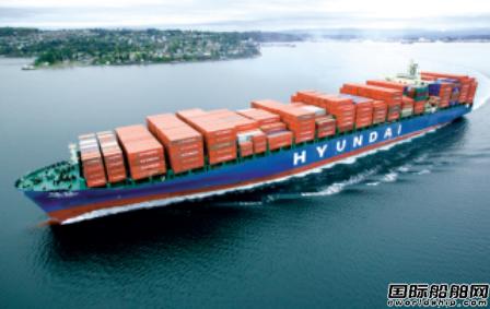 现代商船亚美线箱运量上升