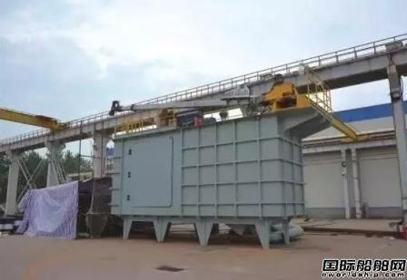武船研制成功万吨级船溢油回收装置
