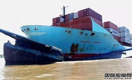 马士基一艘集装箱船与拖船相撞9人失踪