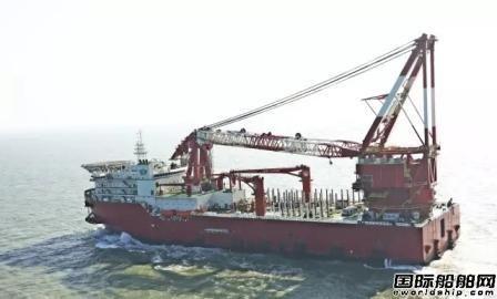 振华重工5000T起重铺管船首次试航提前完成