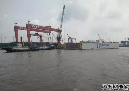 扬州海事局成功维护长江扬州段首艘浮船坞沉浮试验