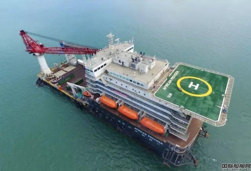 舟山中远船务首制海工生活船试航成功