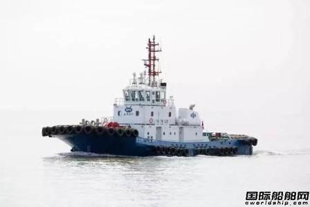 """三林船厂交付一艘全国产拖轮""""海港122""""轮"""