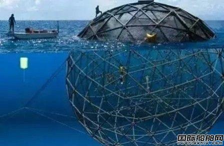 武船获国内首个全潜式深海渔场订单
