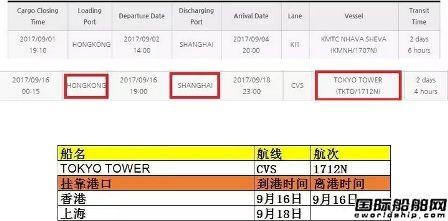 兴亚海运旗下一集装箱船在上海海域搁浅