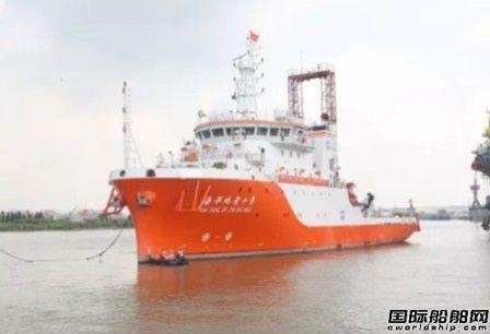 """广东中远船务""""海洋地质十号""""完成倾斜试验"""