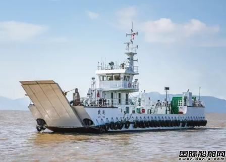 """凯灵船厂建造滚装船""""捷运""""轮投入使用"""