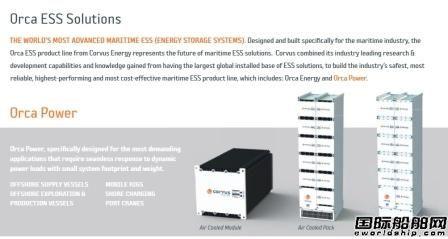 Corvus能源储存系统获2艘PSV改装合同