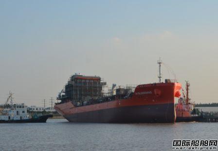 通宝船舶一艘8500吨化学品船下水