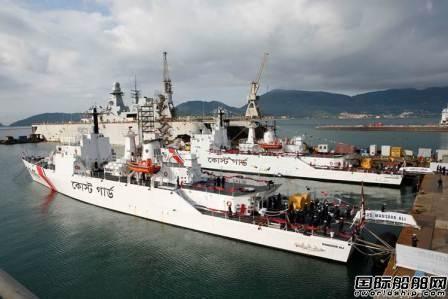 Fincantieri交付孟加拉国海岸警卫队2艘巡逻艇