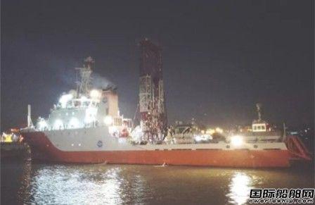 """广东中远船务""""海洋地质十号""""试航凯旋"""