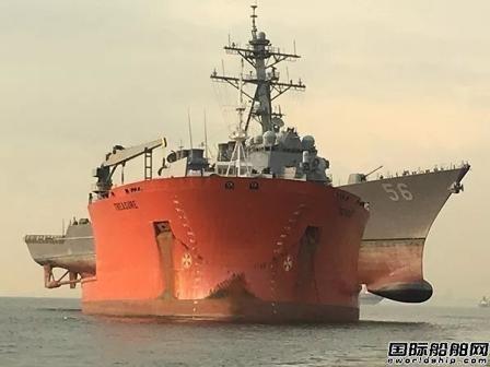舟山中远船务这艘改装半潜船露脸了!