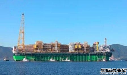 三星重工建造世界最大FPSO启航