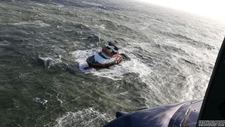 一艘散货船北海海域搁浅