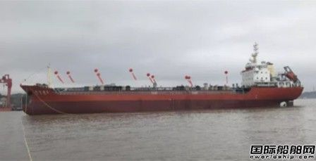 天时造船一艘7600吨成品油船试航结束