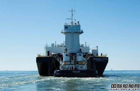 Harley Marine一艘铰接式拖驳船完成海试