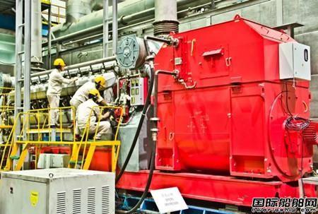 中船动力交验国内首台18V28/32S发电机组