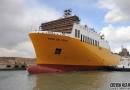 中航威海2500米车道滚装船顺利下水
