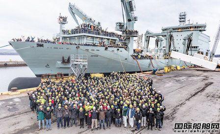 加拿大海军接收一艘最环保军船