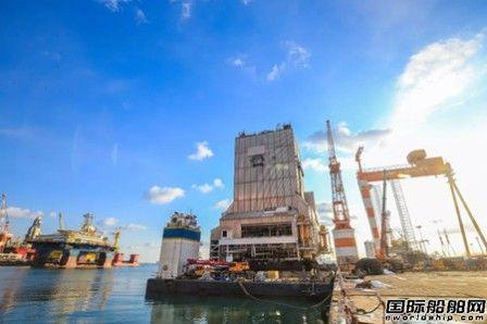 中集来福士GM4-D 3# Beacon Pacific项目DES塔架完成滑移节点