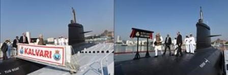 印度海军首艘Scorpene级潜艇服役