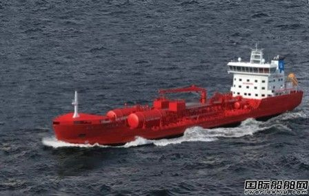 中航鼎衡9900吨化学品船首制船开工