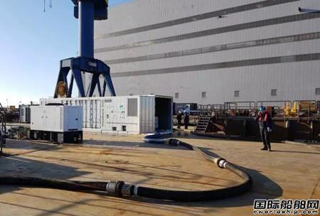达门移动压载水处理系统配备北欧八个港口