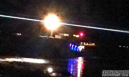 一艘杂货船圣诞夜在挪威海域搁浅