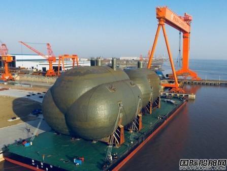 华滋海工交付世界最大C型船用液罐