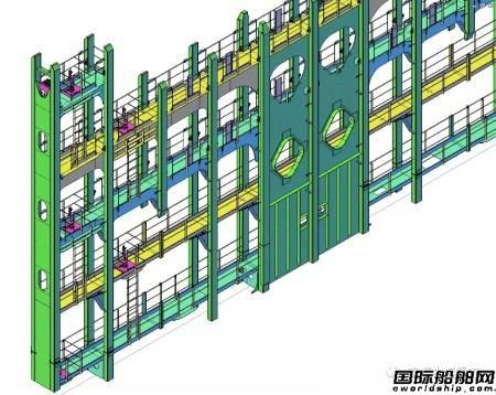 南通中远重工为2万箱船绑扎桥进行精益生产设计