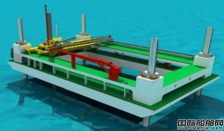 上船院获自升平台式碎石铺设整平船设计合同