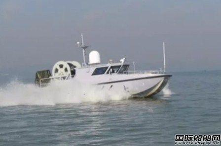 中船重工980A型无人艇太湖试验成功