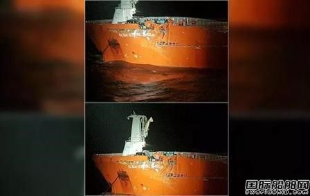 一艘油船年前撞上钻井平台