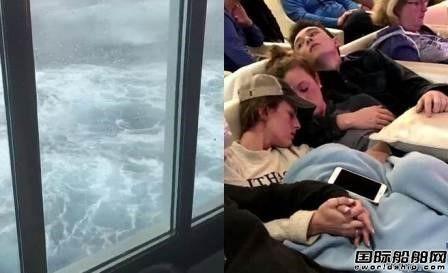 """邮轮遭遇""""炸弹气旋""""游客称这辈子不会再乘船"""