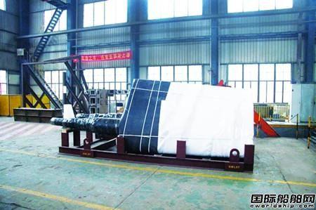 武船集团模块公司出口英国整体式舵系项目完美收官