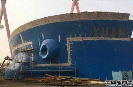 外高桥造船H1439船总段涂装施工再创新纪录
