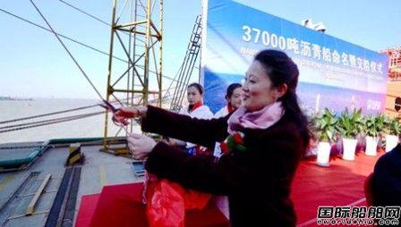 中航鼎衡37000吨沥青船2#船命名交船