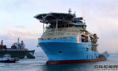 大连中远船务深水海工作业船2号船开航