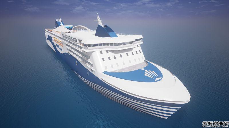 黄海造船签订2000客位/3000米车道客滚船订单
