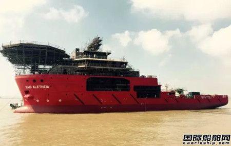 振华重工交付国内首艘自主设计潜水支持船