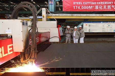 沪东中华亚马尔LNG项目2号船开工