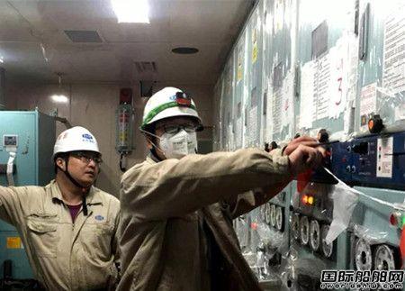 沪东中华首制13500箱船发电机组试验顺利提交