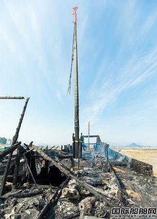 宁德被烧世界最大仿古福船将适时重建