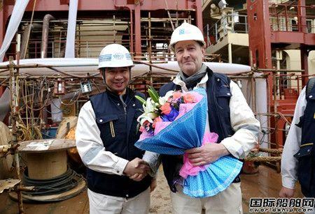 舟山中远海运重工第二艘3600TEU集装箱船试航成功