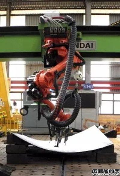 """现代重工用机器人造船打造""""智能船厂"""""""