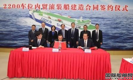 武船集团获新年首单进军滚装船市场