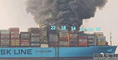 """面目全非~""""Maersk Honam""""轮火已扑灭"""