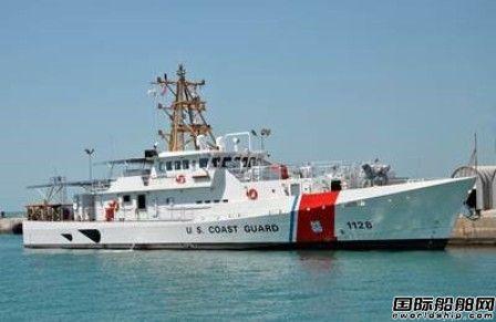 美国海岸警卫队一艘快速响应巡逻舰交付