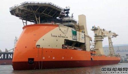 现代重工交付一艘多用途海上工程船